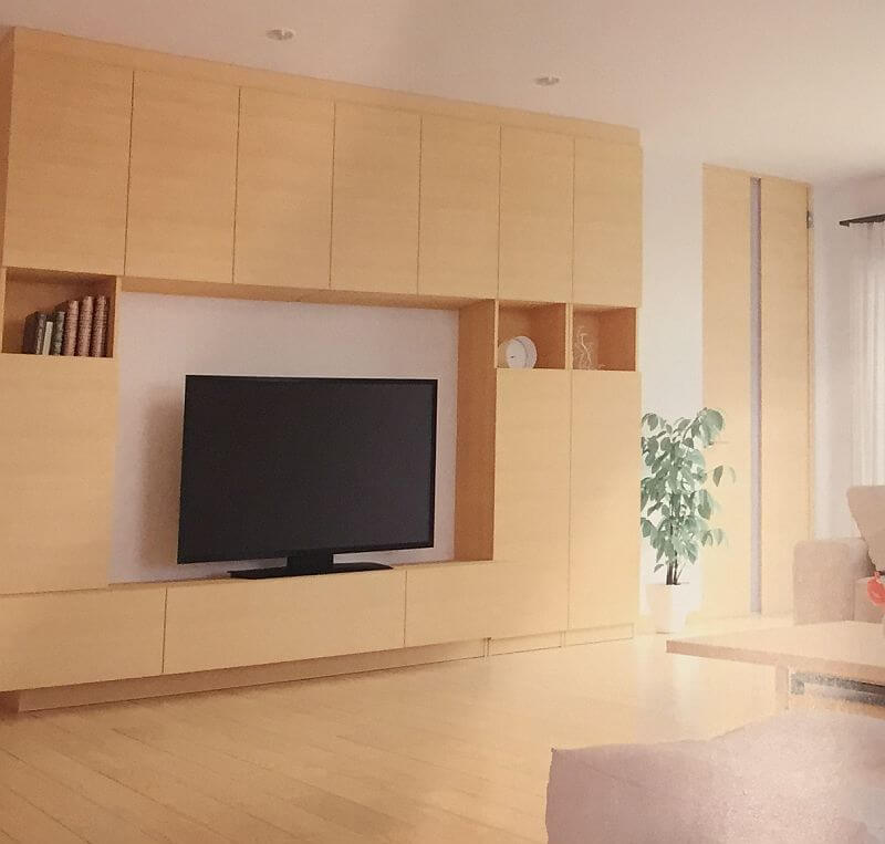 テレビボードは造り付けがいいか?