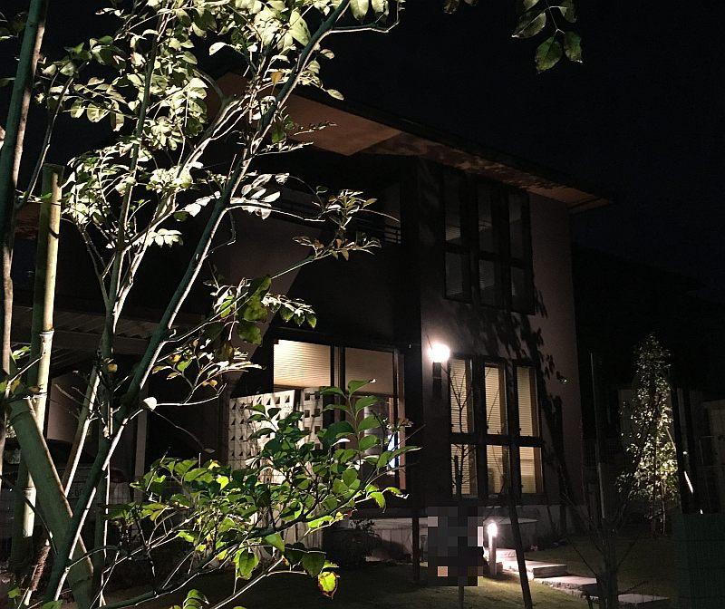 庭のライトアップ(外構の照明プラン)