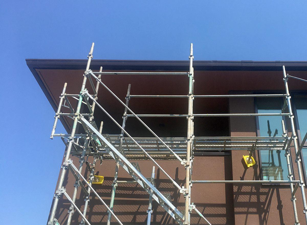 軒天井の補修工事が完了しました